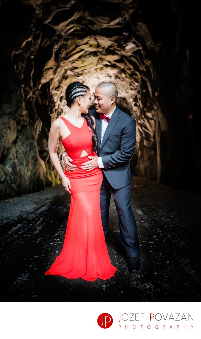 Othello Tunnels Wedding Photographer Dramatic Portraits