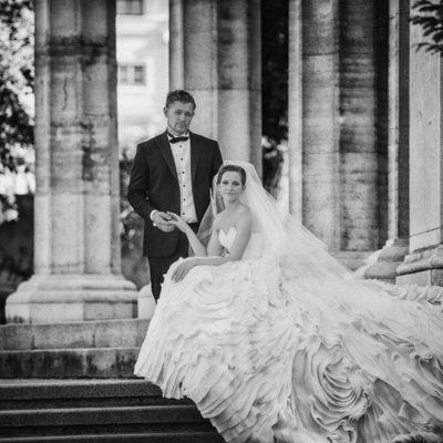 Vienna destination wedding for classy modern clients
