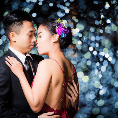 Fairmont Pacific Rim pre wedding night portrait session
