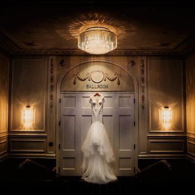 Rosewood Hotel Georgia Wedding Photographer Bride Dress