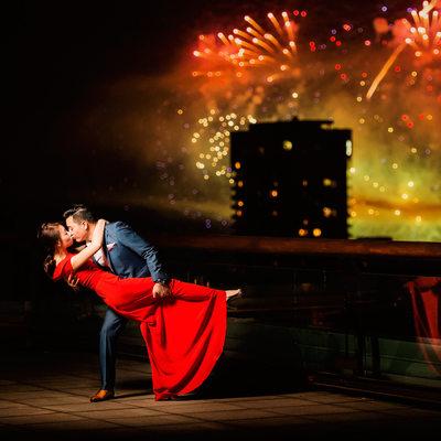Celebration of light Vancouver fireworks wedding pics