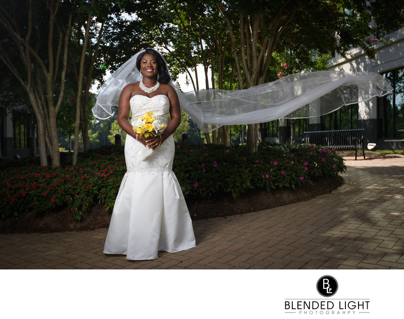 Raleigh Outdoor Bridal Portrait