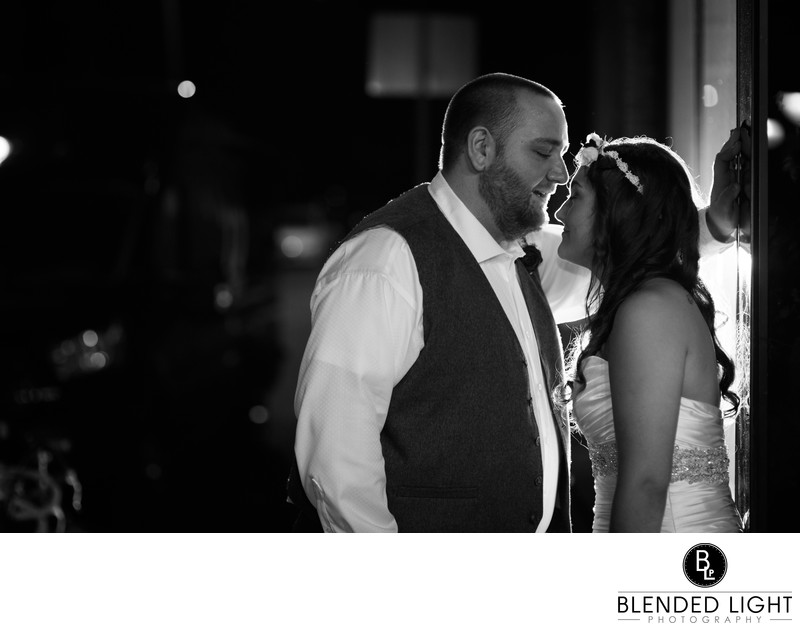 Zebulon wedding photography at night