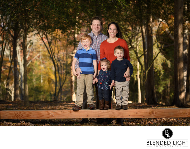 Wake Forest neighborhood family portrait session