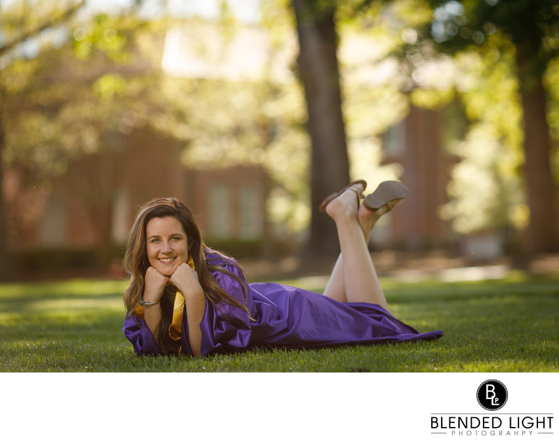 ECU mall senior picture for education major