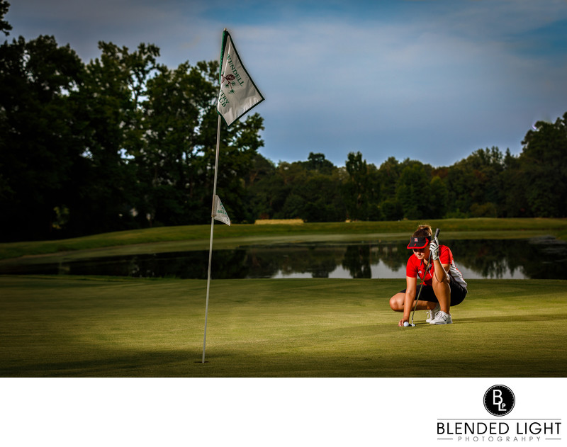 High School golf player session at Wendell Country Club