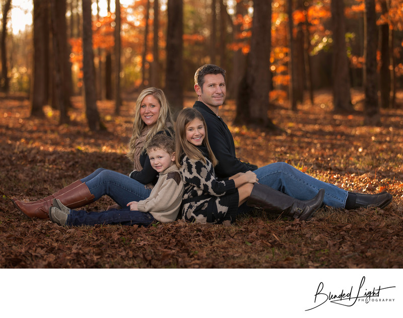 Greenville NC Fall family session beautiful late light