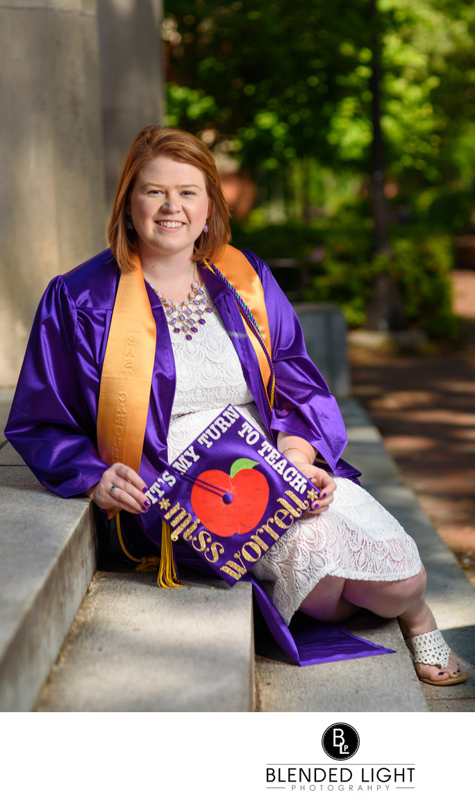 ECU senior by Raleigh senior photographer