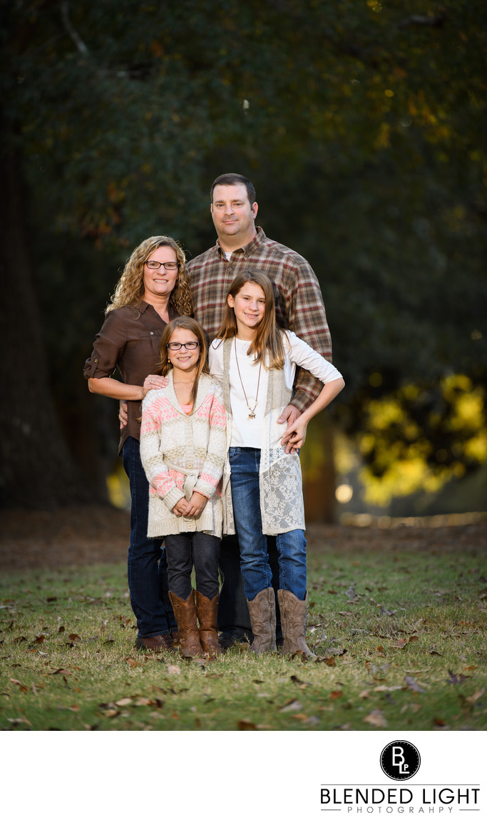 Family Portrait at Wake Forest Seminary in the fall