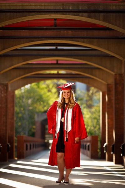 NCSU Textile graduate senior portrait