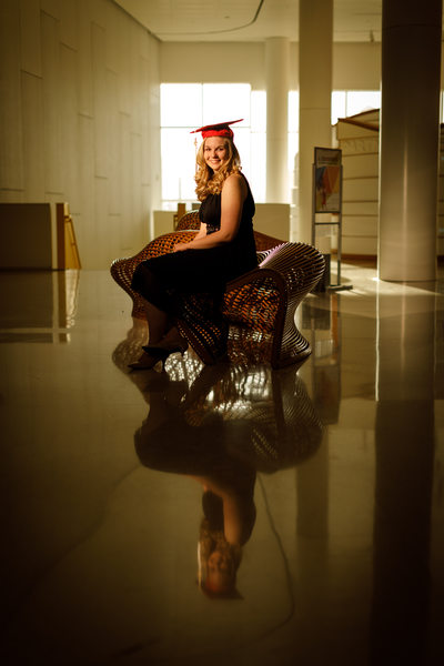 NC State Senior Portrait at James B Hunt Library