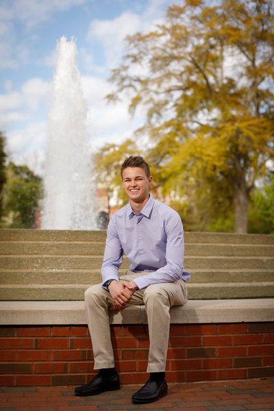 Trustees Fountain at ECU Senior Portrait
