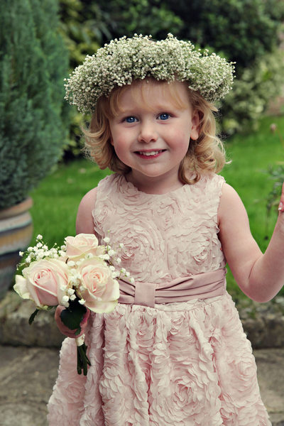 happy flower girl