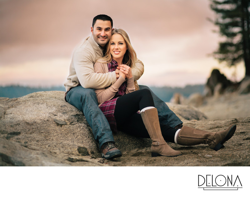 Shaver Lake Sunset Engagement Session