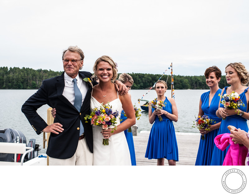 Backyard Beach Wedding in Freeport