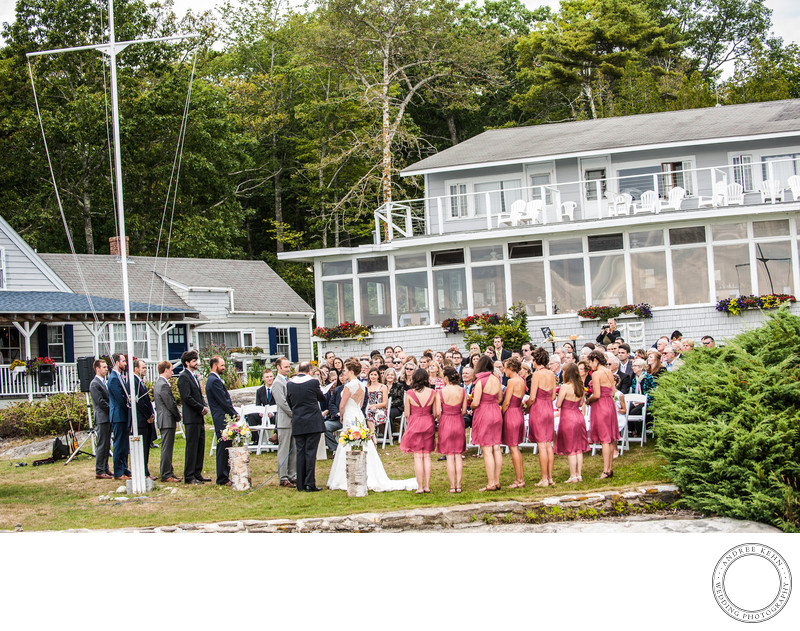 Outdoor Wedding in Maine