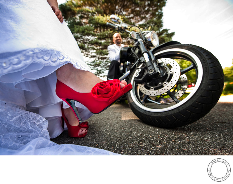 Wedding shoes red