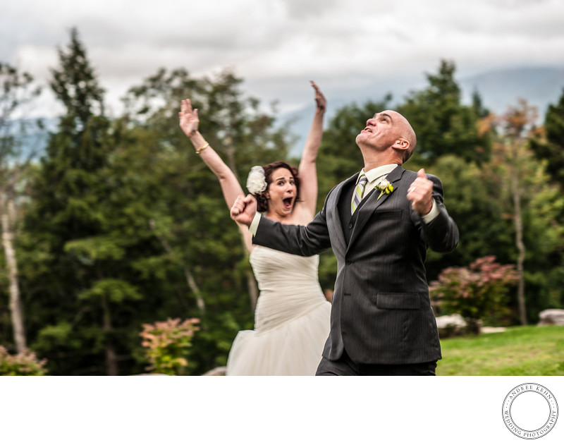 Fun wedding couples
