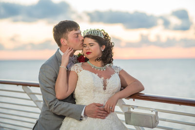 Sunset on the Wedding Day on the Disney Dream Cruise