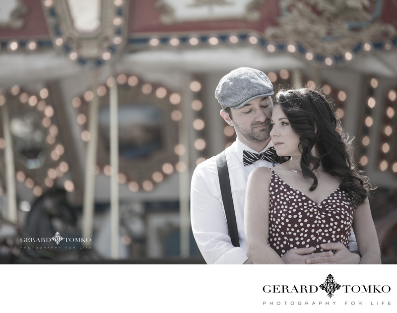 Vintage Themed Engagement Photo