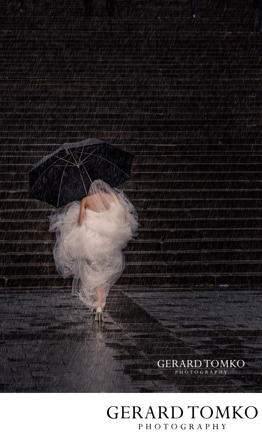Philadelphia Wedding Photos in the Rain