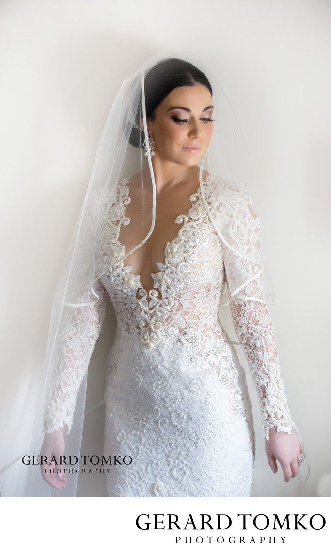 bridal portrait with a fashion look