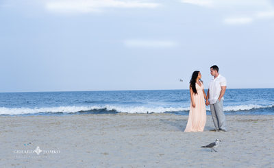 New Jersey Beach Engagement Photo