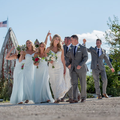 A Maine Wedding Party on Cape Porpoise, Maine