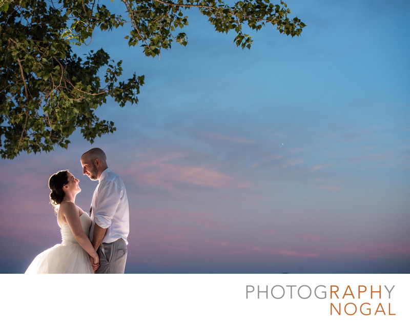 Couple During Sunset at Geraldo's At Lasalle Park