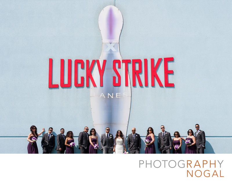 Wedding Party at Lucky Strike Bowling