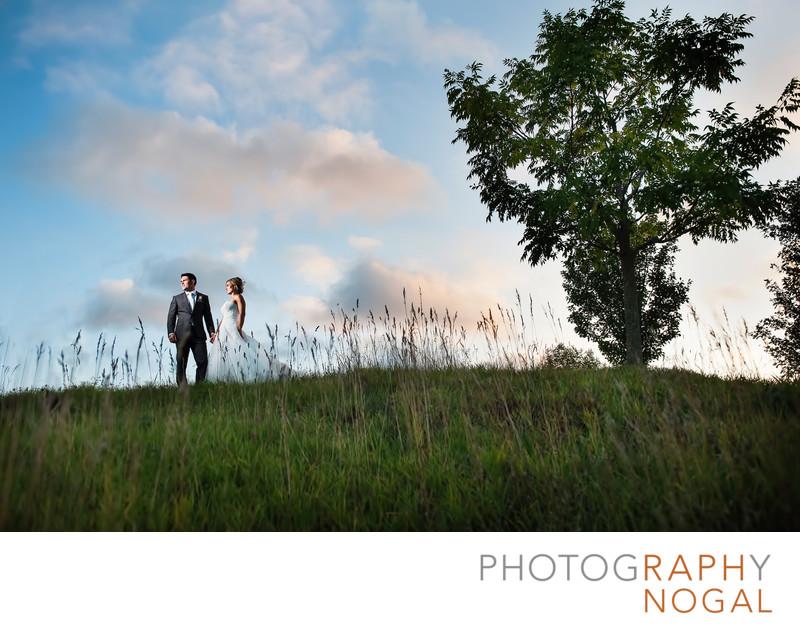 Couple Enjoying the Sunset at Whistle Bear Golf Club