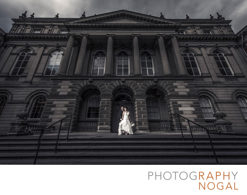 Bride and Groom at Osgoode Hall in Toronto