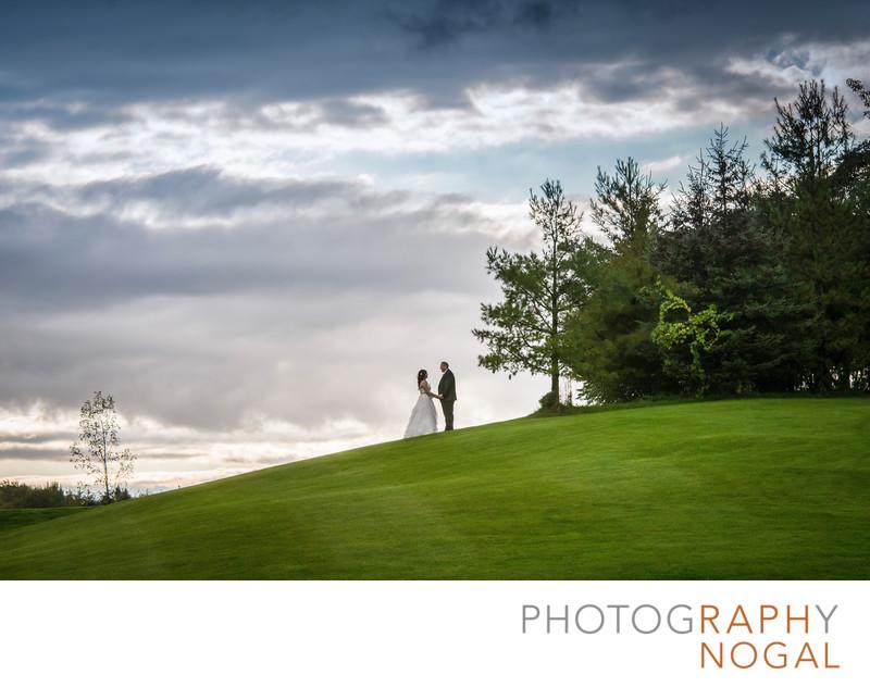 Bride and Groom at Nobleton Lakes Golf Club