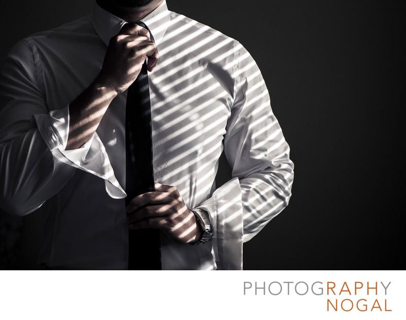 Light Stripes on Groom's Shirt