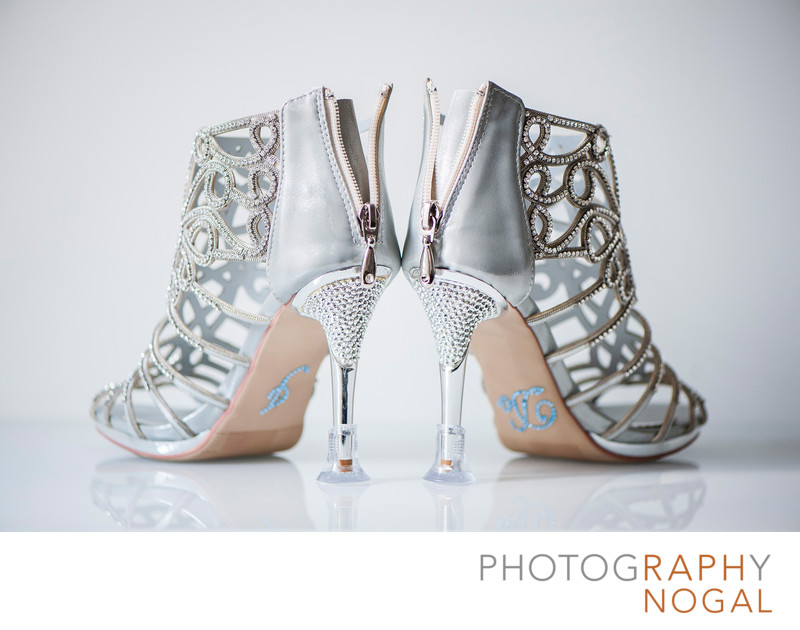 Bridal Wedding Shoes With I Do Stickers