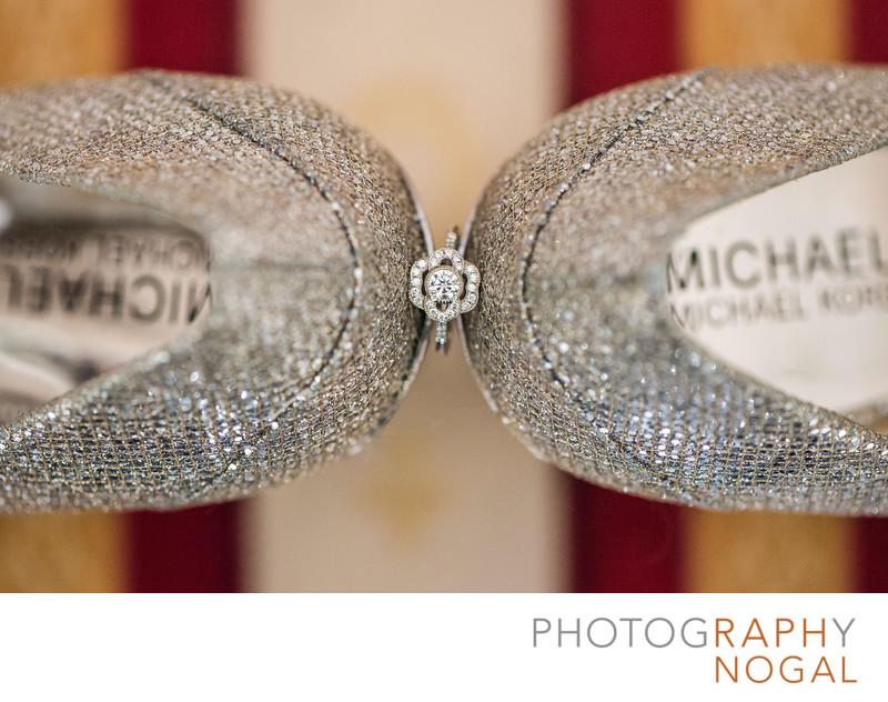 Wedding Ring Amongst Michel Kors Shoes