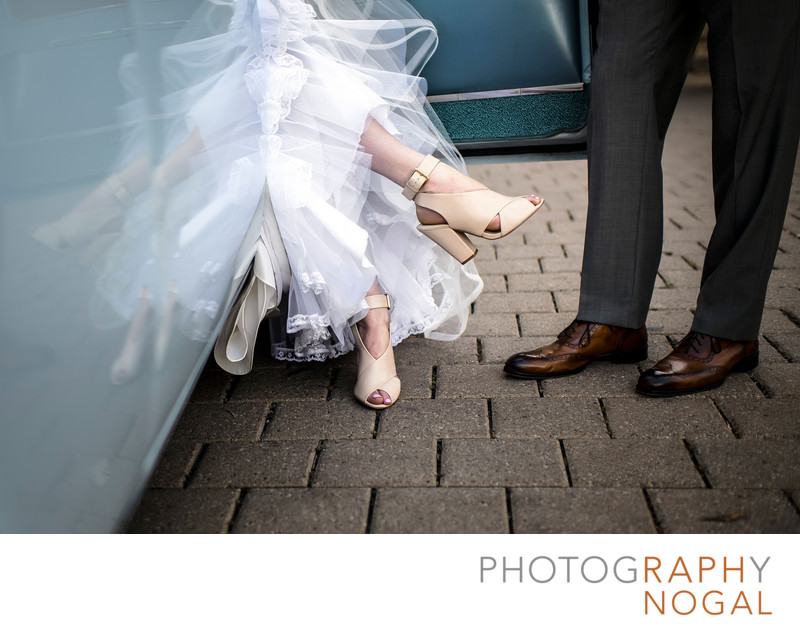 Wedding Shoes and Classic Car