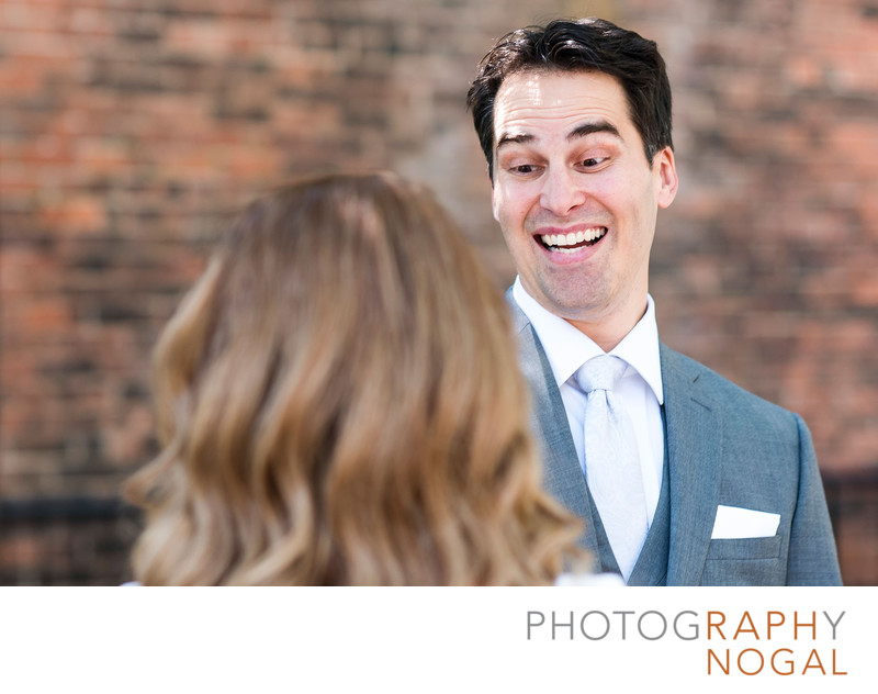 Groom's Reaction to Seeing His Bride at the Reveal