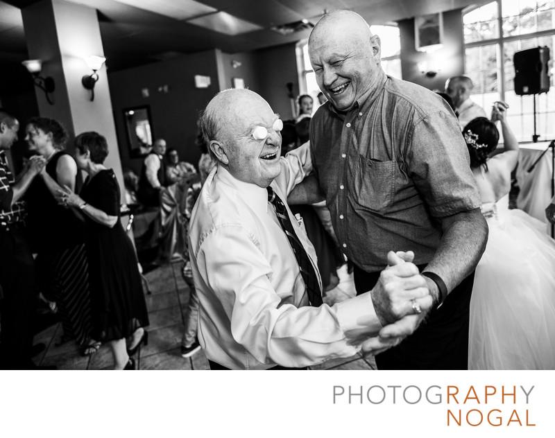 Funny Gentlemen Dancing at Wedding
