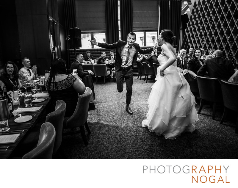 Groom Showing Off His Dance Moves