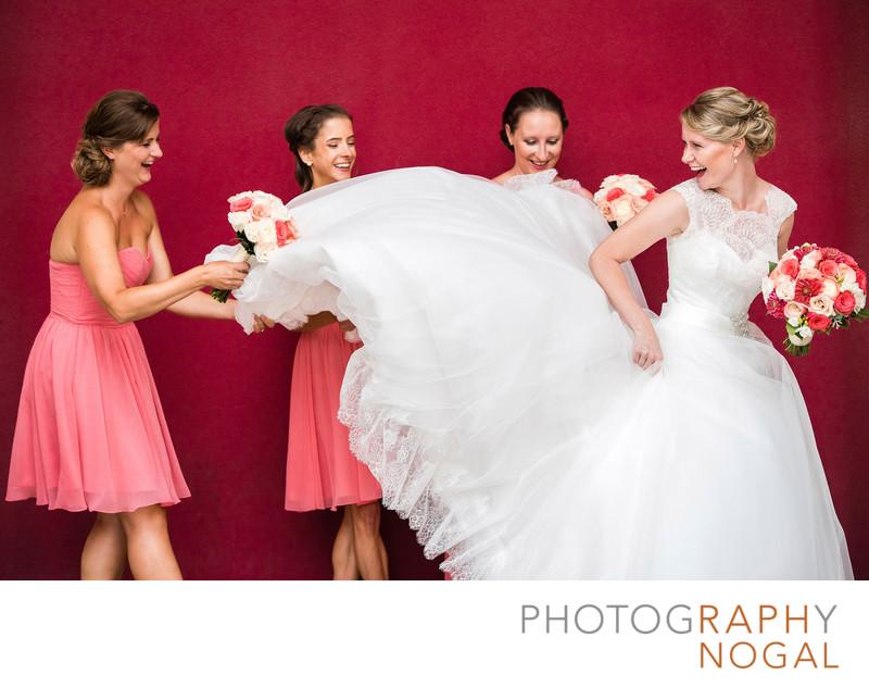 Fun With The Wedding Dress