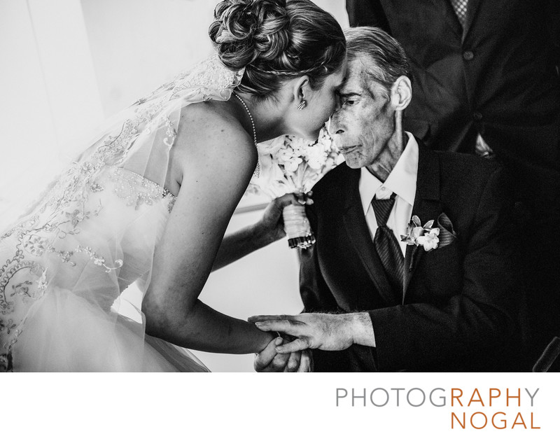 A Moment Between Bride and Ill Father