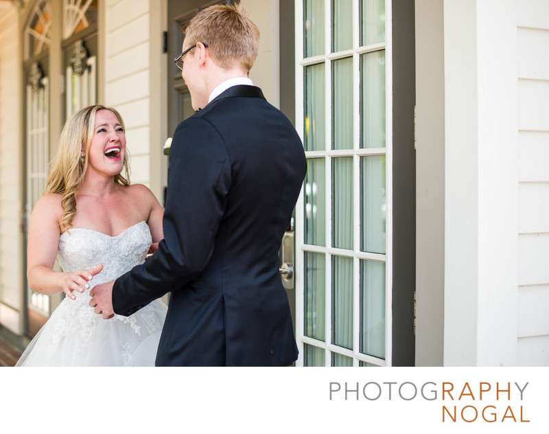 Bride's Reaction to a First Look