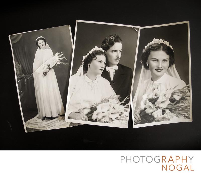 Grandparents 1950's Wedding Photos Family Heirloom