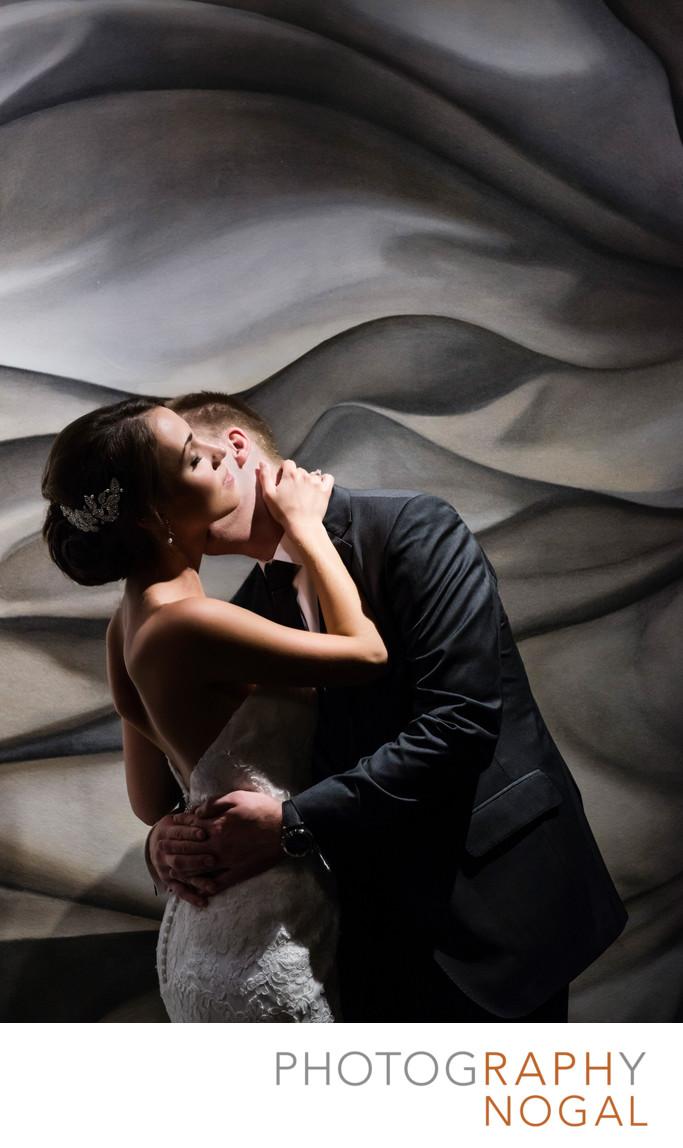 Couple Embrace at Arcadian Loft