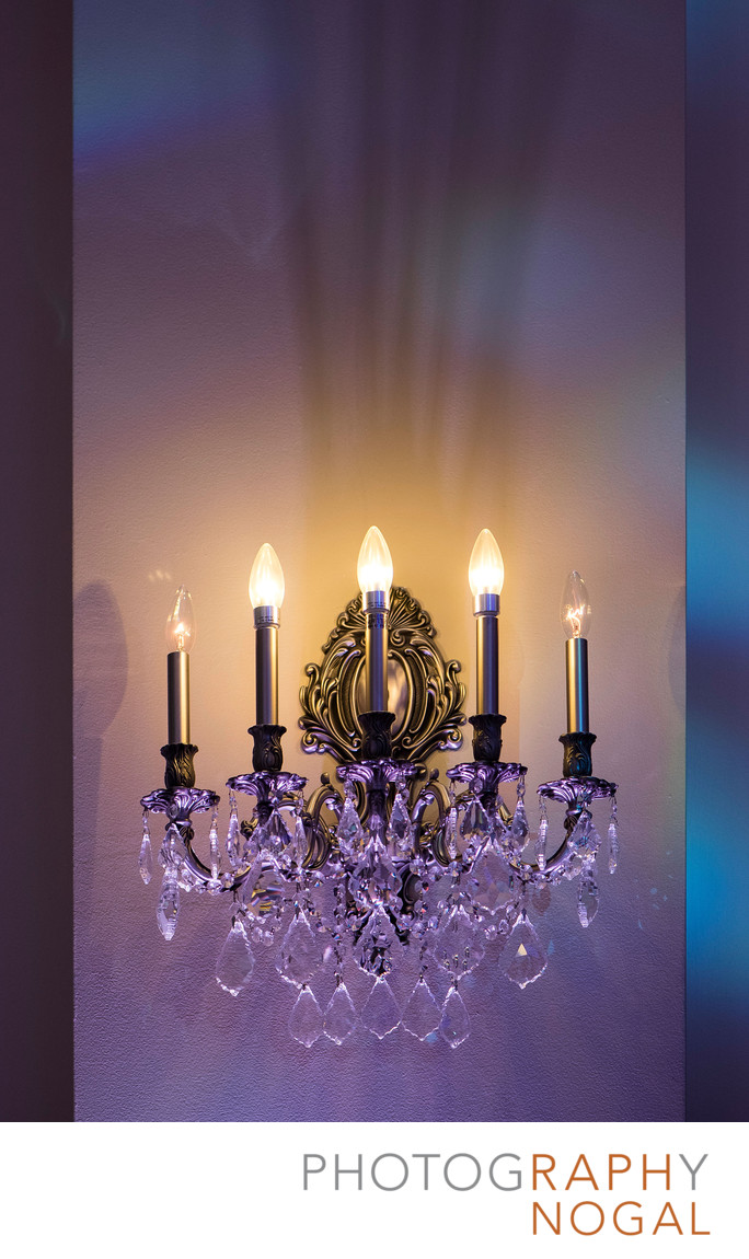 Beautiful Wall Sconce in Reception Venue