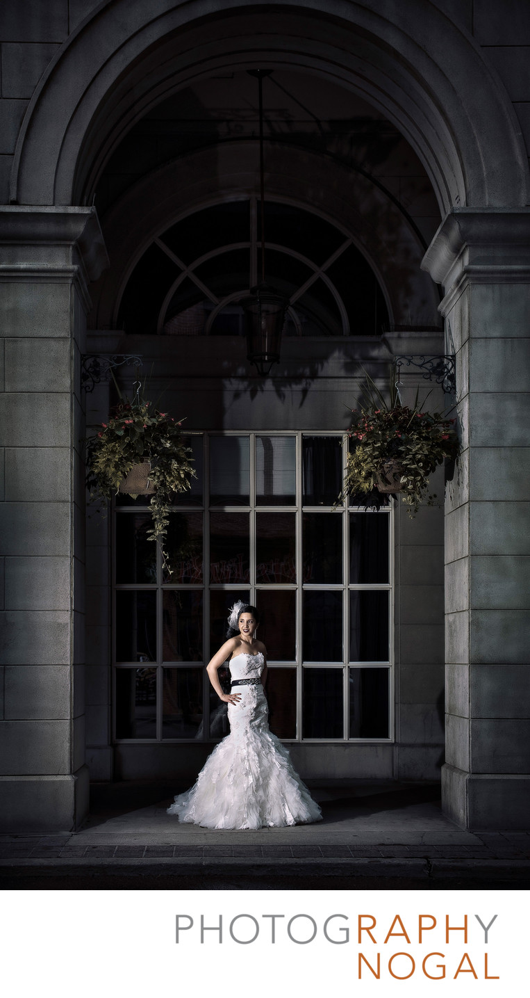 Bride In Front of Novotel Hotel in Toronto