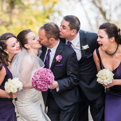 Best Mand Kissing Groom During Couple's Kiss