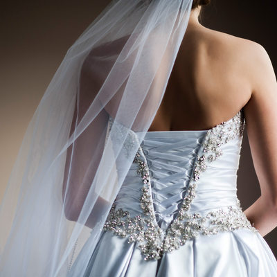 Back of the Wedding Dress Detail