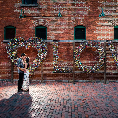 Love Lock Wall In The Distillery District